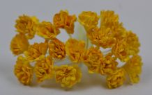 YELLOW GYPSOPHILA / FORGET ME NOT Mulberry Paper Flowers